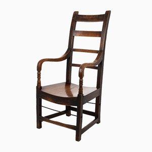 George III Elbow Chair mit Leiterlehne