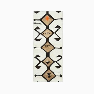 Vintage Turkish Handmade Wool Hallway Rug