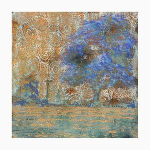 Andrew Francis, Behind the Sky, Contemporary Encaustic Wax Abstract Painting, 2020