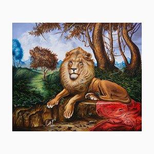 Art Contemporain Cubain, Carlos Sablon, Le Lion & Le Rat, 2021