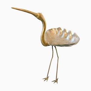 Escultura Ibis de latón, años 60