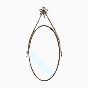 Mid-Century Italian Brass Mirror, 1950s