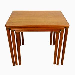 Danish Modern Teak Nesting Tables, 1960s, Set of 3
