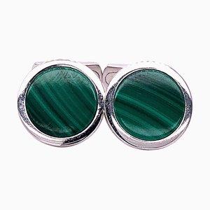 Malachite & Sterling Silver Cufflinks from Berca
