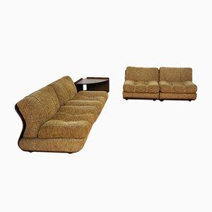 Modulare Stühle und Ecktisch, 1970er, 5er Set