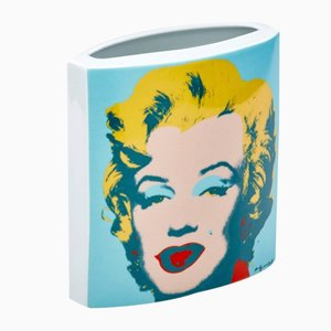 Porcelain Andy Warhol Marilyn Vase from Rosenthal