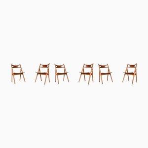 Danish CH29 Dining Chair Set by Hans J. Wegner for Carl Hansen & Søn, 1952, Set of 8