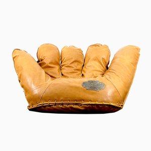 Vintage Leather Lounge Chair by Jonathan De Pas, Donato Durbino and Paolo Lomazzi for Poltronova