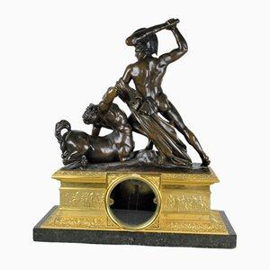 Reloj Hércules y el Centauro de bronce, siglo XIX