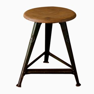 Industrial Stool by Robert Wagner for Rowac, Chemnitz, 1920s