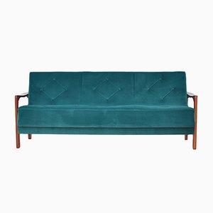 Mid-Century Velvet Sofa Daybed, 1960s.