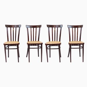 Mid-Century Vienna Straw Chairs, Set of 4