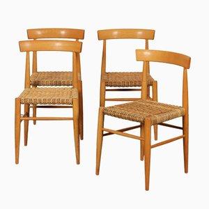 Vintage Wooden Chairs from Krásná Jizba, 1960s, Set of 4