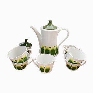 Vintage German Optical Tea / Coffee Set from Seltmann Weiden, 1960s, Set of 8