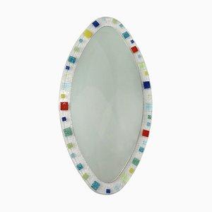 Specchio grande in stile Barovier & Toso in vetro di Murano, Italia, anni '70