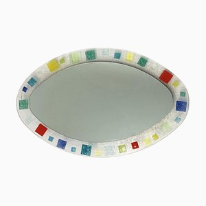 Small Italian Murano Glass Mirror in the Style of Barovier & Toso, 1970s