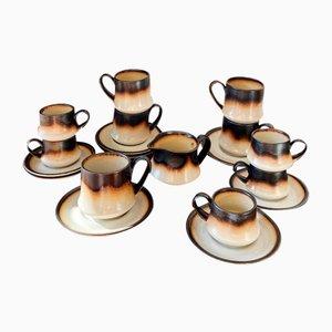Vintage Italian Tuscia Coffee / Tea Set from Mancioli, 1970s, Set of 19