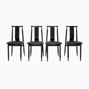 Lierna Stühle von Achille und Pier Giacomo Castiglioni für Gavina, 4er Set