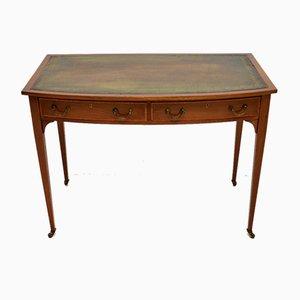 Antique Edwardian Satinwood Inlaid Mahogany Writing Desk
