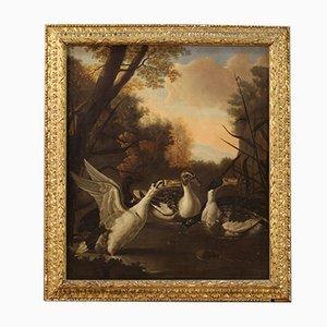 Antique Landscape with Ducks, 17th-Century