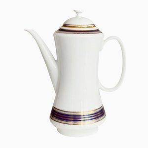 Vintage Cobalt & Gold Porcelain Tea Pot from Johann Seltmann Vohenstrauss Bavaria