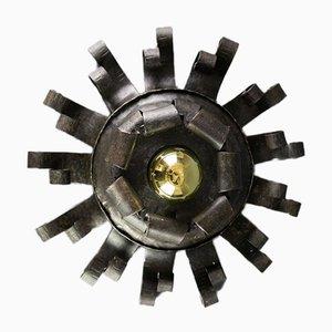 Lampada da soffitto vintage in ferro battuto di Josef Schmirler, Austria