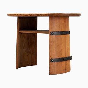 Mesa de pino de Axel Einar Hjorth para Åby Furniture, Sweden, años 40