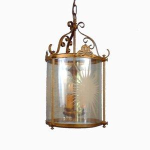 Large 20th Century Faux Bronze Hall Lantern