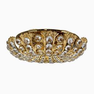 Wandlampe aus Kristallglas & goldfarbenem Metall von Peris Andreu für SA Riper
