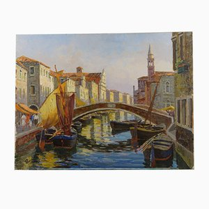 Vue du Canal Vena, Chioggia par Dario Galimberti