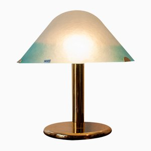 Italian Gilt Metal and Murano Glass Lamp from Veart, 1970s