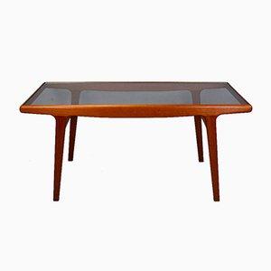 Vintage Danish Teak & Glass Dining Table by Arne Hovmand Olsen for Mogens Kold