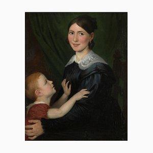 Antoine Wiertz, 19th-Century Romantic Portrait, Oil on Canvas