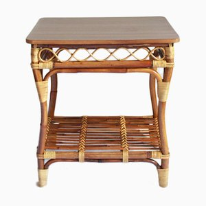 Table Basse Tavolino Mid-Century en Bambou, Italie, 1960s