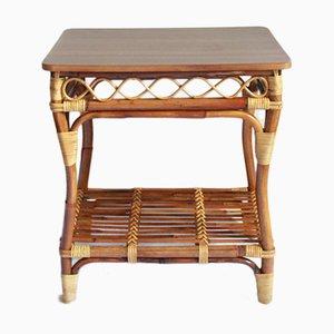 Tavolino da caffè Mid-Century in bambù, Italia, anni '60