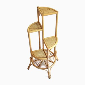 Vintage Italian Bamboo Inaltolepiante Plant Stand, 1970s