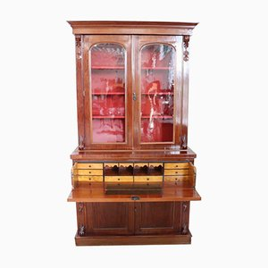 Antique Cabinet With Writing Desk, 1880s