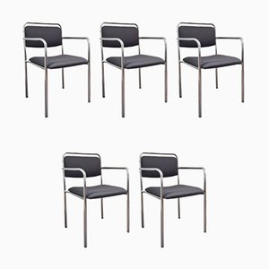 Ostdeutsche Vintage Stühle im Stil der Palast der Republik, DDR, 1970er, 5er Set