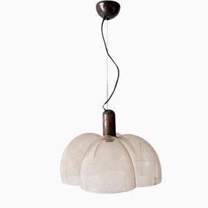 Lampe à Suspension en Verre de Murano et Bronze, Italie, 1970s