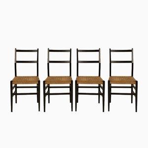 Esszimmerstühle von Gio Ponti, 1950er, 4er Set