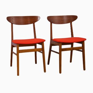 Danish Dining Chairs in Teak from Farstrup Møbler, 1960s, Set of 2