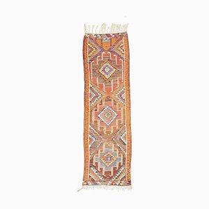 Mid-Century Turkish Orange Kilim Rug, 1970s