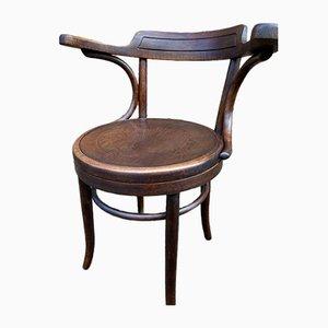 Silla de escritorio de madera curvada de Fischel, años 20