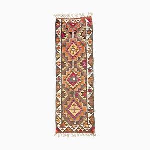 Türkischer Vintage Kelim Teppich mit verblasstem Muster