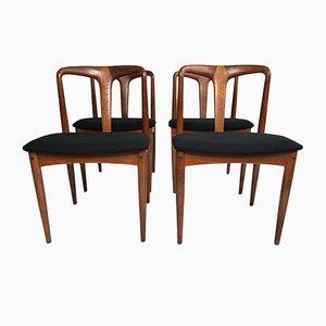 Vintage Danish Teak Model Julia Chairs by Johannes Andersen for Uldum Møbelfabrik, 1960s, Set of 4