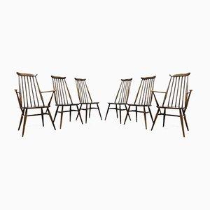 Vintage Ulmenholz Esszimmerstühle von Ercol Goldsmith, 1960er, 6er Set