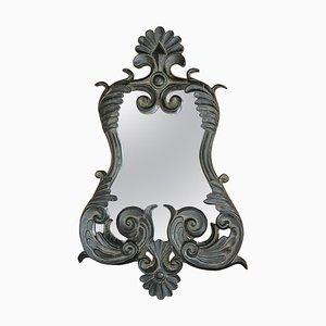 Black Wooden Mirror, France, 1980s