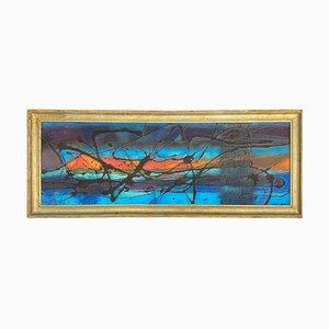 Abstraktes Gemälde im Stil von Mathieu Matégot, Frankreich, 1970er