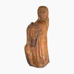 Skulptur aus Holz, Frankreich, 1970er