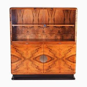 Art Deco Walnut Display Cabinet by Jindrich Halabala, Czechoslovakia